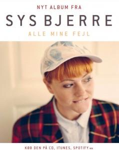 Alle mine fejl - net album fra Sys Bjerre23 oktober 2015